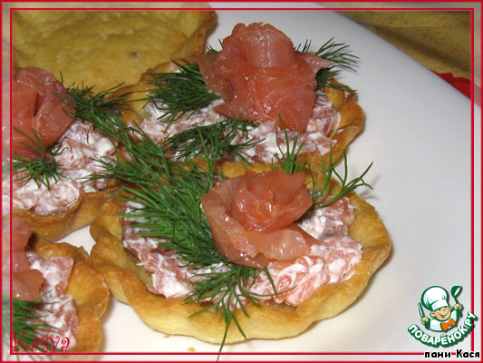 Морские тарталетки из картофеля