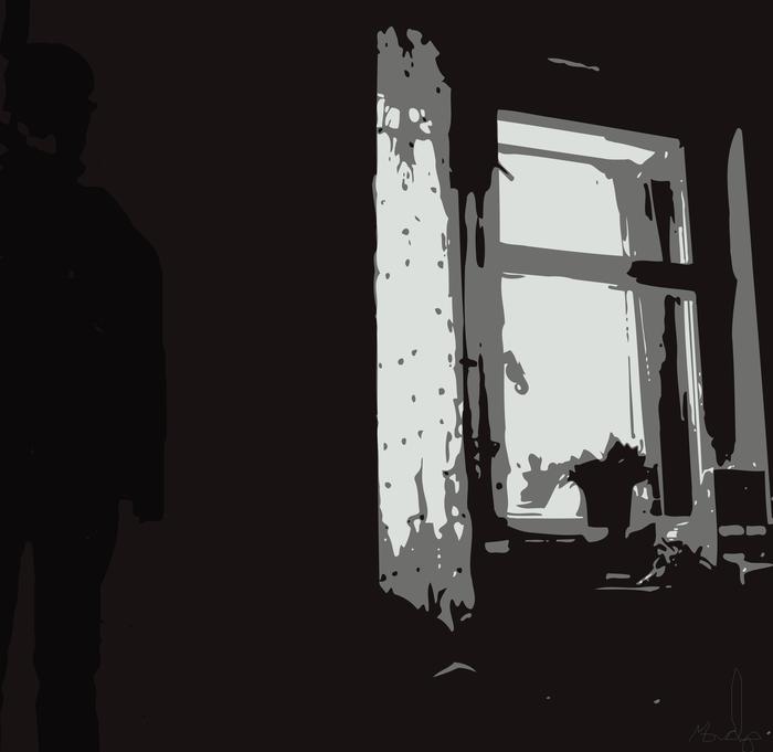 комната, вектор, депрессия