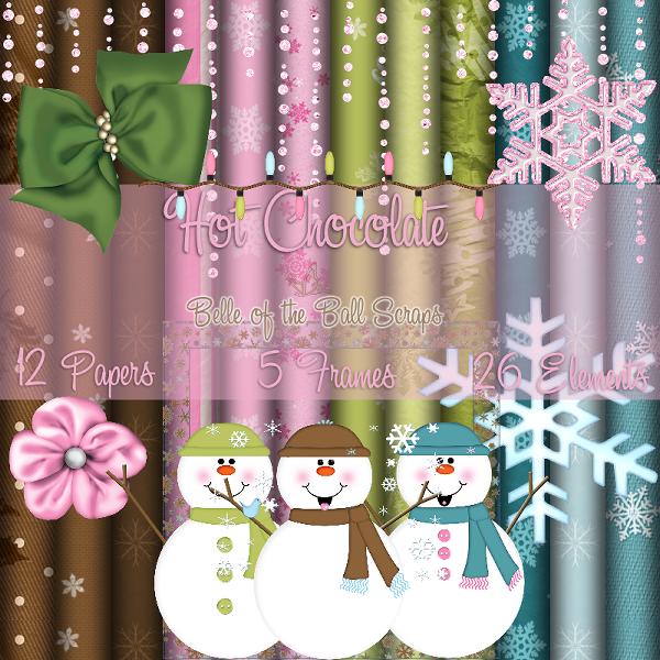 Шоколадное Рождество - скрап-набор