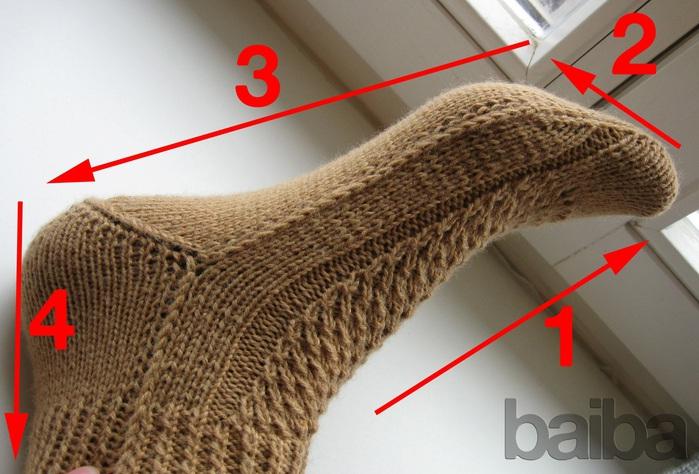 Носки на 2-х спицах