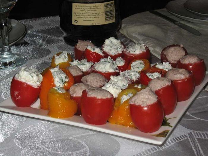 Красивые и вкусные закуски на новогодний стол.