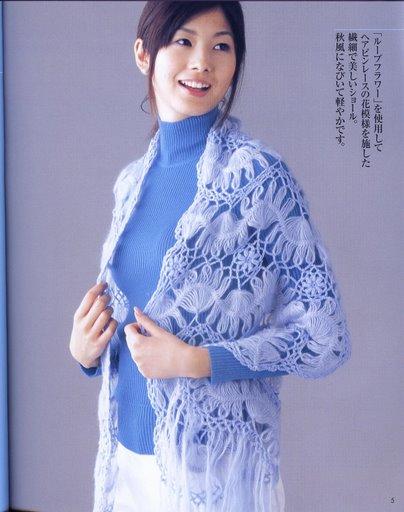 Очень понравилась голубая шаль