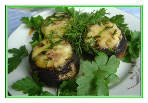 Фаршированные грибы фаршем. Рецепт закуски из грибов с фото