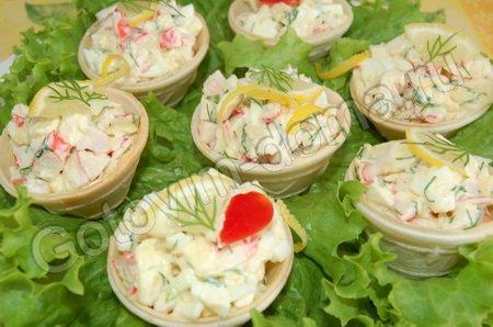 салат в фафельных корзиночках рецепт с фото