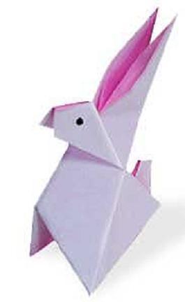 делаем кролика из бумаги