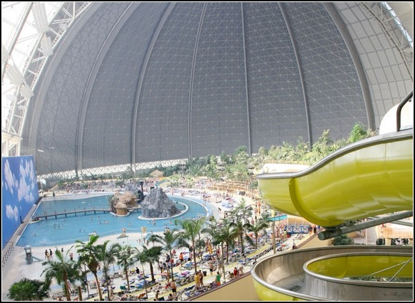tropical island in an old hangar in germany