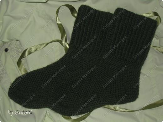 Мужские вязанные носки крючком