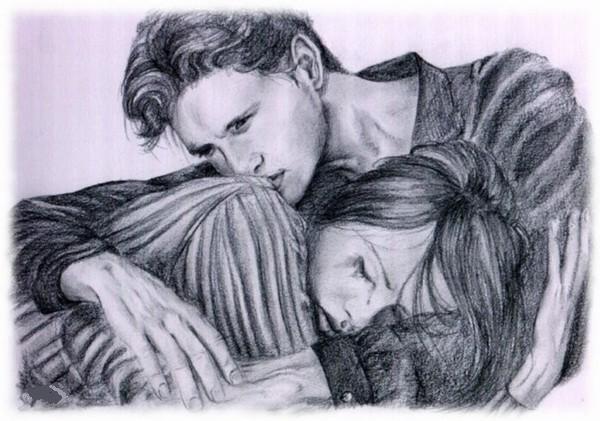 рисунки карандашом любовь: