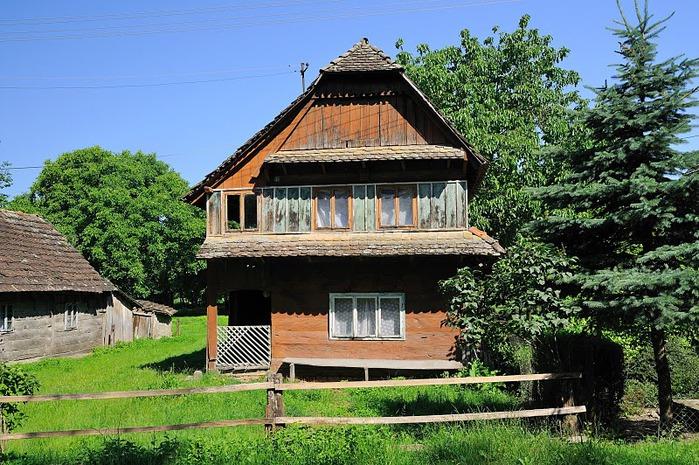 Деревянные дома в заповедном болоте - «Лоньско поле» 69326