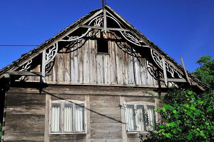 Деревянные дома в заповедном болоте - «Лоньско поле» 74888