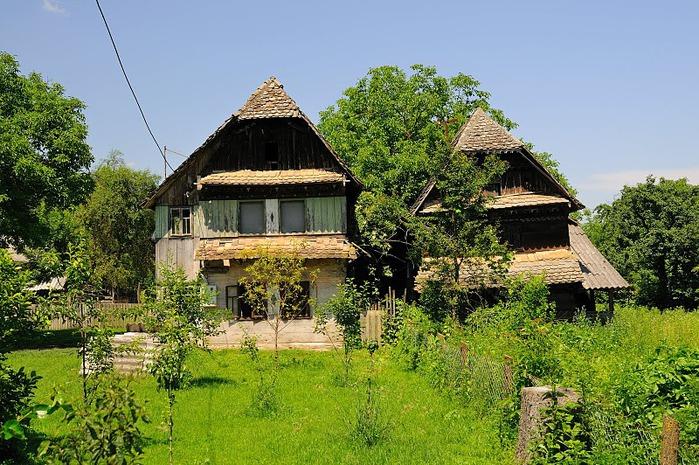 Деревянные дома в заповедном болоте - «Лоньско поле» 32116