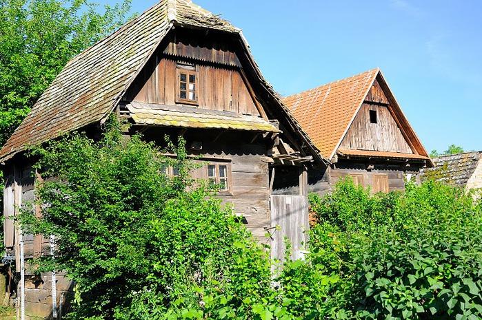Деревянные дома в заповедном болоте - «Лоньско поле» 79120