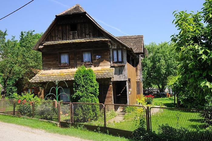 Деревянные дома в заповедном болоте - «Лоньско поле» 72734