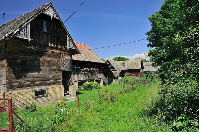Деревянные дома в заповедном болоте - «Лоньско поле» 23068