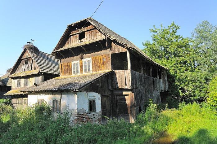 Деревянные дома в заповедном болоте - «Лоньско поле» 40815