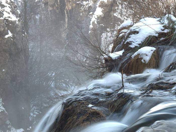 Плитвицкие озёра зимой - Зимняя сказка. 46461