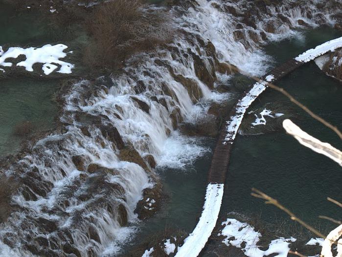 Плитвицкие озёра зимой - Зимняя сказка. 50389