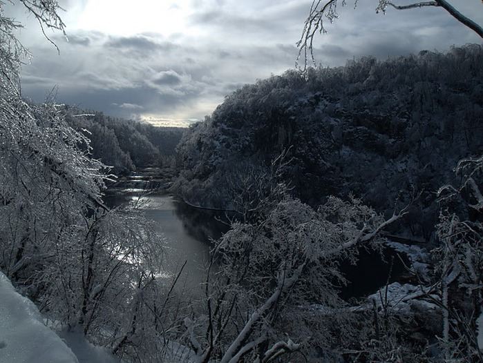Плитвицкие озёра зимой - Зимняя сказка. 54149