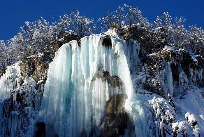 Плитвицкие озёра зимой - Зимняя сказка. 94547