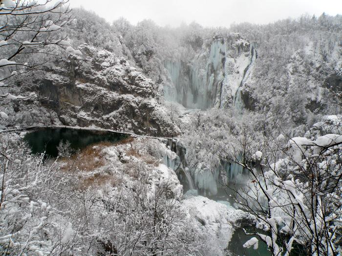 Плитвицкие озёра зимой - Зимняя сказка. 21755