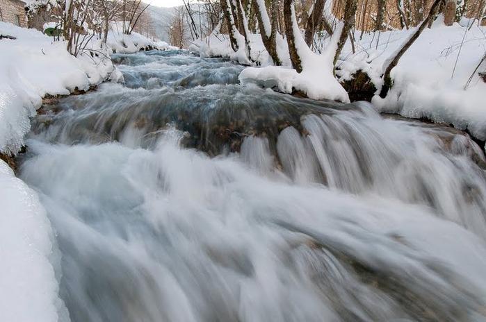 Плитвицкие озёра зимой - Зимняя сказка. 26501