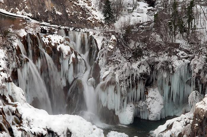 Плитвицкие озёра зимой - Зимняя сказка. 29831