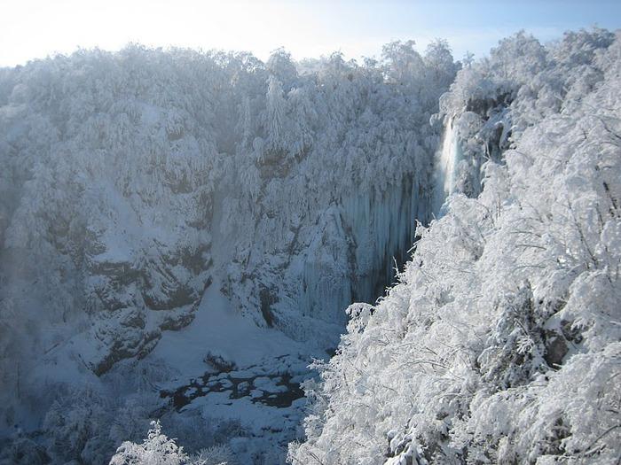 Плитвицкие озёра зимой - Зимняя сказка. 20292