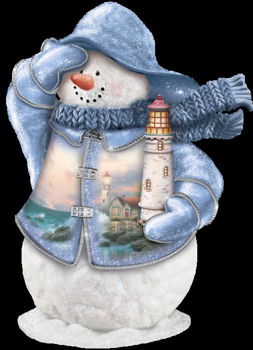 снеговик и маяк (504x698, 485 Kb)
