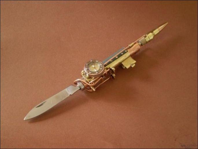 Ручка для гиков в стиле стимпанк 6