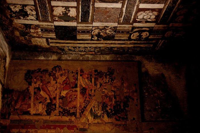 Фрески Аджанты - История на каменных сводах 25836