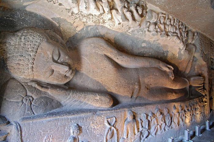 Фрески Аджанты - История на каменных сводах 19673