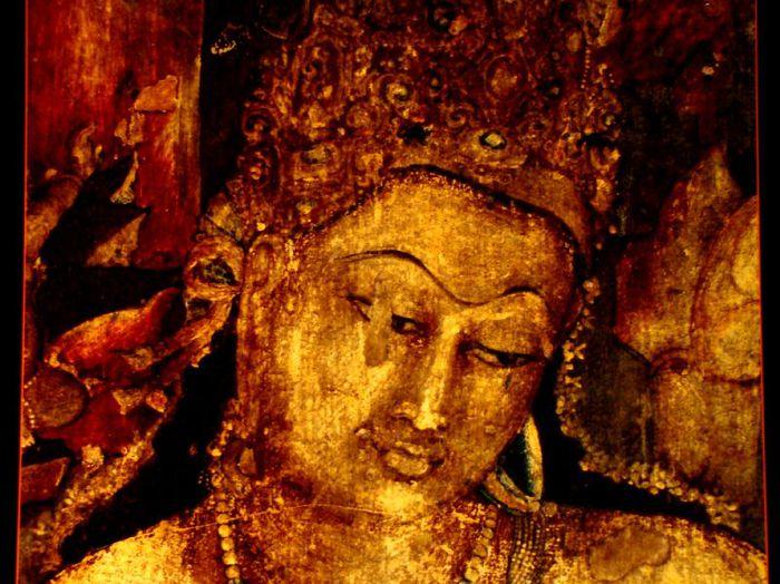 Фрески Аджанты - История на каменных сводах 62959