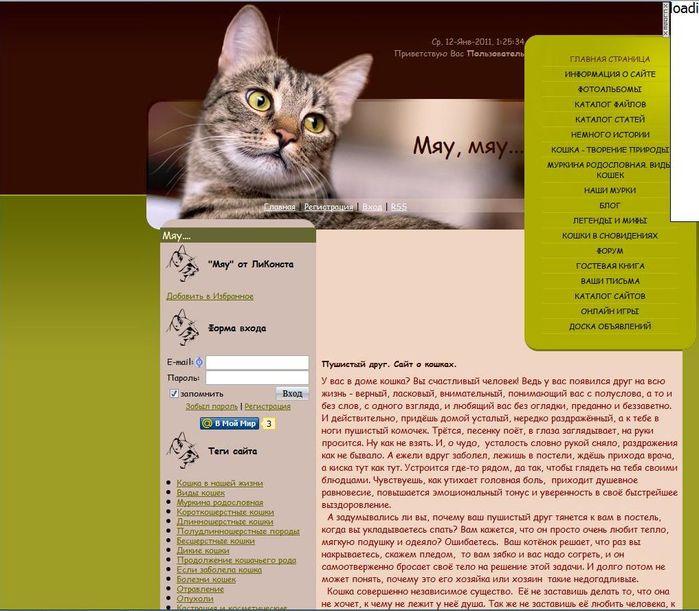сайт о кошках (699x611, 82 Kb)