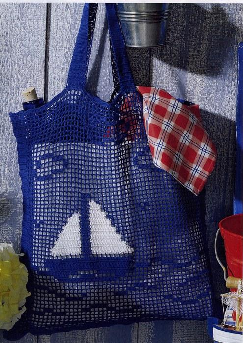 вязаная сумка, сумка крючком