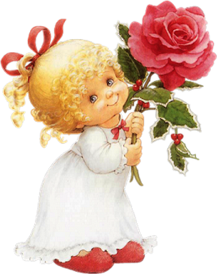 девочка с цветком (317x400, 181 Kb)