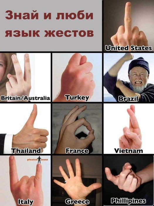Улыбнуло! )) | язык жестов народов мира