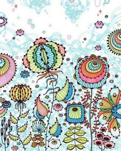 Красивые цветочные узоры от Yellena 5