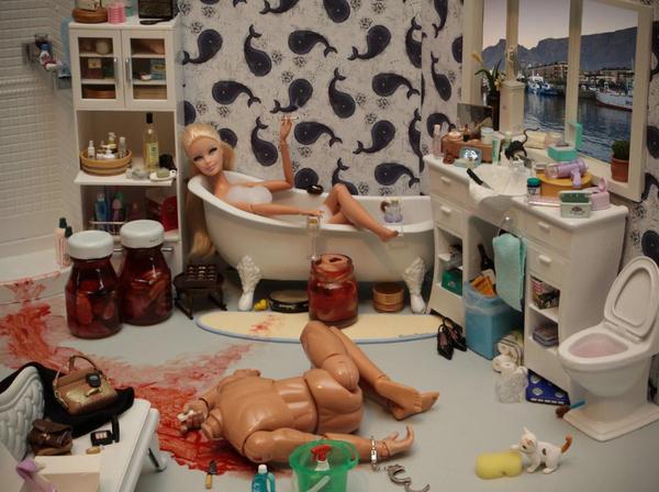 кукла барби - маньяк убйица