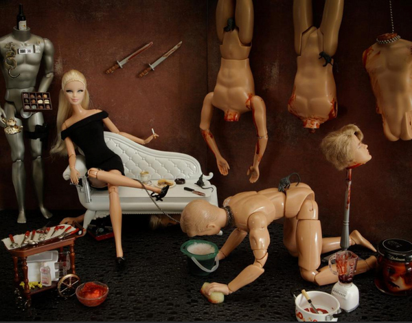 кукла барби ужас