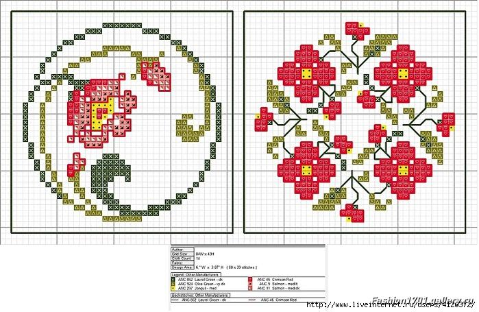 Круглые схемы Рукодельница. org Вышивка крестом 83