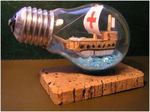 Новая жизнь старой лампочки (мастер класс)