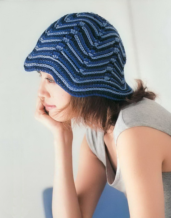 """钩针:巴拿马式""""草帽"""" - maomao - 我随心动"""