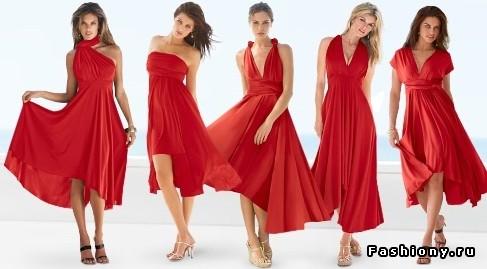 Видео платье из куска ткани