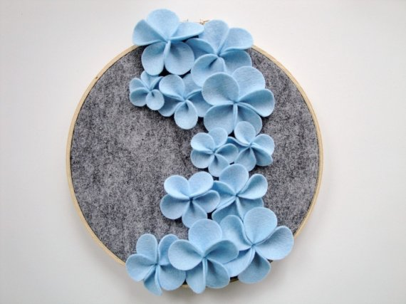 Цветочек из фетра