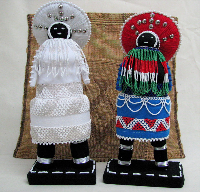 african crafts for kids: beaded dolls