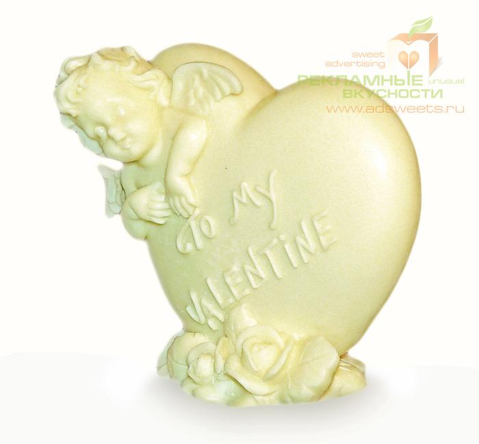 Шоколадное сердце - корпоративный подарок