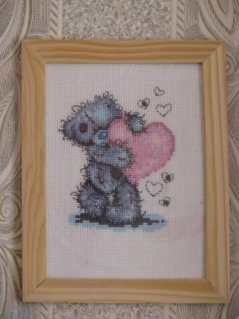 Мишка Тедди с розовым