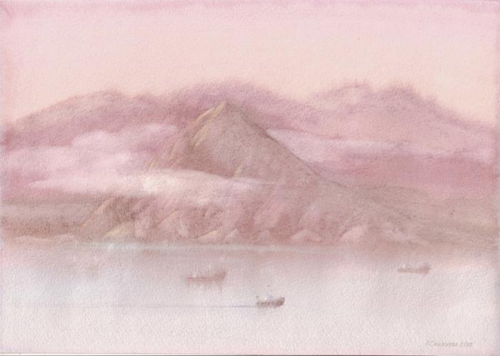 Восход над заливом (700x499, 303 Kb)
