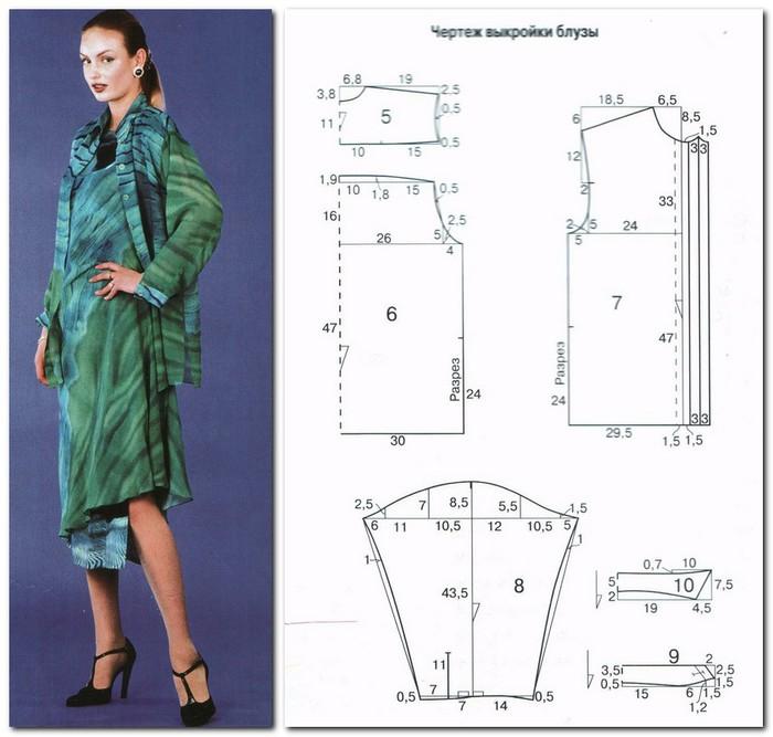 Скачать блузки платья конструирование