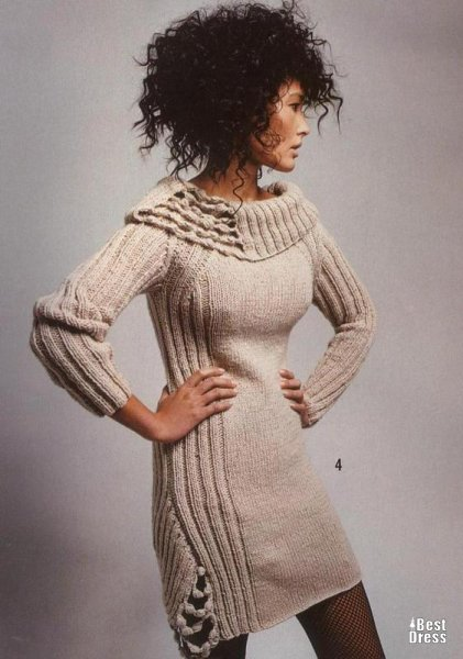 Модные вязаные платья 2011